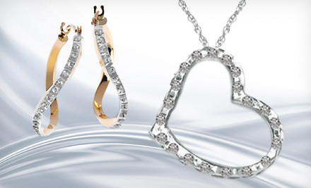 Diamond Fascination Platinum Floating Heart Pendant (a $100 value) - Diamond Fascination Jewelry in