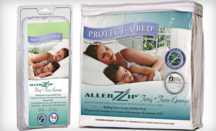Protect-A-Bed Allerzip Terry Mattress Encasement with Bug Lock and Secure Seal: Twin (a $120 value) - Protect-A-Bed Allerzip Terry Mattress Encasement in