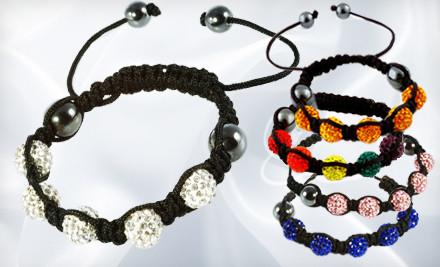Austrian Crystal Tranquility Bracelet: White (a $40 value) - Austrian Crystal Tranquility Bracelets in