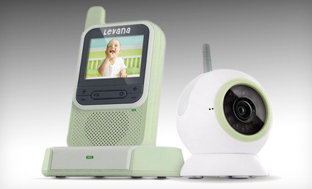 Groupon Goods - Levana Digital Wireless Video Baby Monitor with Camera and Night Light in