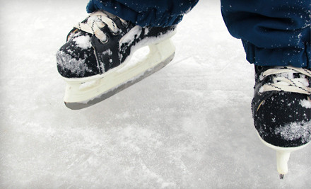 Ice-Skating with Skate Rental for 4 (a $48 value)  - Glenview Park District, Glenview Ice Center in Glenview