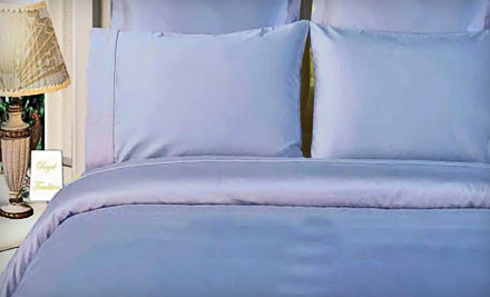 Queen-Size Bamboo Three-Piece Duvet-Cover Set: White (a $200 value) - Duvet-Cover Set in
