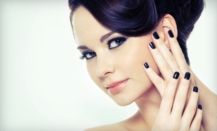 2 Grand or Shellac Manicures with Mimosas (a $50 value) - Oasis Pamper Bar in Emeryville