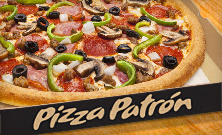 Valid at: 1618 Spencer Hwy., 7582 W Bellfort St., 805 S 75th St., 11400 Gulf Fwy. & 5800 Bellaire Blvd. - Pizza Patron in