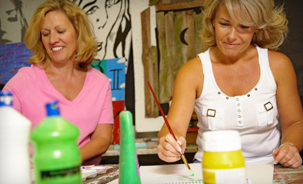 2-Hour BYOB Painting Class for 1 - Frog and Lilly Boutique in Byram