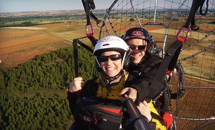 Propelled Paragliding Discovery Lesson for Two with 2 Tandem Flights and Beverages (a $110 value) - Blue Sky Powered Paragliding in Olivehurst
