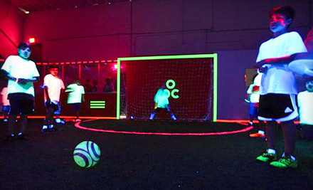 1 Hour of Glow-in-the-Dark Soccer for up to 10 People With All Gear Included (a $140 value) - Revo Soccer in Miami