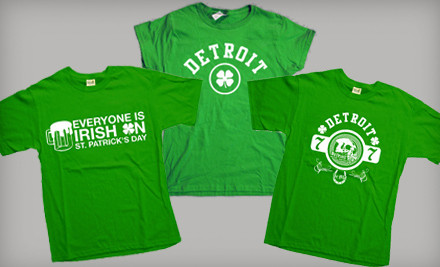 Any One St. Patrick's Day T-Shirt - Detroit Motor Apparel in