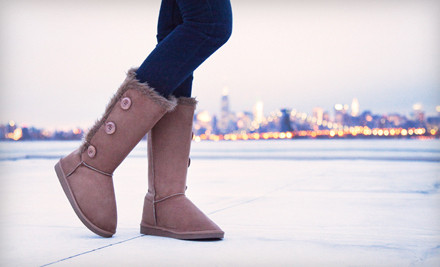1 Pair of Faux-Shearling Short Boots (an $80 value) - Shoe Scandal in