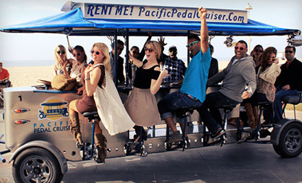 Party-Bike Pub-Crawl Admission for 2 People (a $60 value) - Pacific Pedal Cruiser in Hermosa Beach