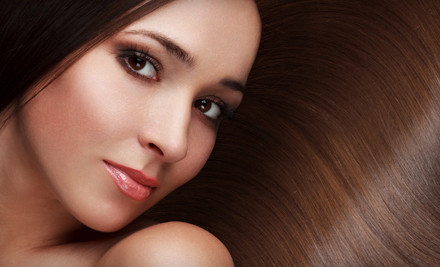 Haircut, Style, Blow-Dry, Partial Highlights, and Moroccanoil Treatment (a $130 value) - XEX Hair Gallery in Chicago