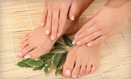 1 Spa Manicure and Spa Pedicure with Choice of Paraffin or Scrub with Mask for Fingers and Toes (a $75 value) - Day Dream Nails & Spa in West Bloomfield