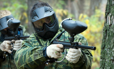 Paintball Outing for 2 Including Admission, Automag-Marker Rental, and 500 Paintballs (a $94 value) - Fox Paintball in Newark