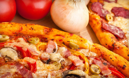 16-Inch Build-Your-Own Pizza with Five Toppings, Cheesy Bread, and Two Large Fountain Drinks (a $32 total value) - City Pizza Restaurant in Campbell