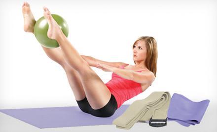 Groupon Goods - Danskin Eight-Piece Yoga Kit in