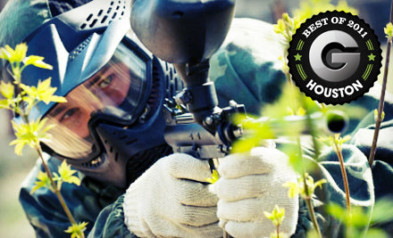 All-Day Admission, Equipment, Unlimited Air, and 200 Paintballs Per Player for Two (a $50 value) - Tank's Paintball Park in Katy