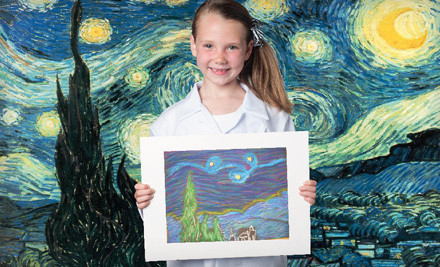 1 Month of Weekly Art Classes with Registration Fee (a $188 value) - Fibo Kids Art Academy in Yorba Linda