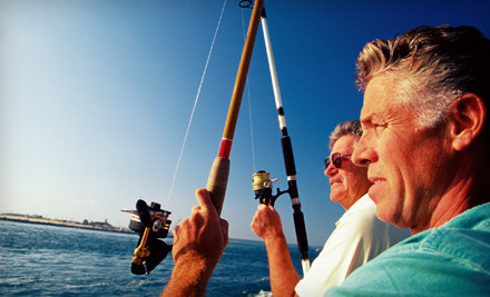Shark Fishing Trip and $5 Groupon to Grills Seafood Deck and Tiki Bar - Obsession Charters in Cape Canaveral