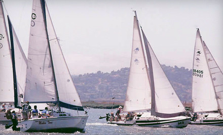 Basic Keelboat Sailing I Class for One Person (a $395 value) - Spinnaker Sailing in Redwood City