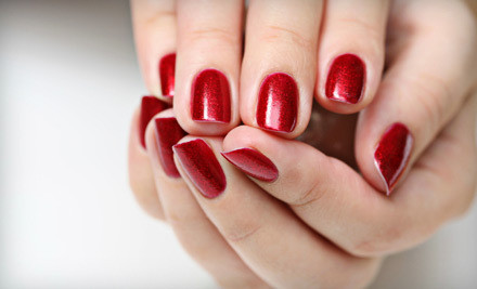 Hot-Stone Pedicure, Hydrating Hand Treatment, and a Manicure (an $82 value) - Anthony Fredrick Salon & Day Spa in Dedham