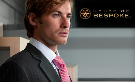 House of Bespoke 3 medium $299 for a Custom Suit and Tailoring Credit from House of Bespoke (Up to $638 Value)