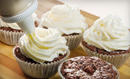 Cake and Cupcake Decoration Class for 1 (a $30 value) - Blue Velvet Cupcakes in Antioch