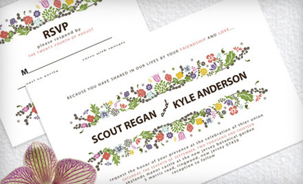 50 Wedding Invitations (a $145 value) - Pretty Little Prints in