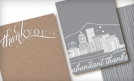 10 Portland Cityscape Thank-You Cards (a $30 value)  - Cardgirl in