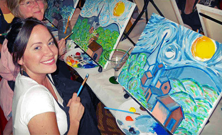 Three-hour Wine-And-Painting Class for One (a $35 value) - Wine & Canvas in San Diego