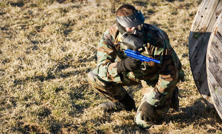 All-Day Paintball Package for Two with 400 Paintballs and Equipment Rental (a $90 value) - RHC Paintball Fields in Richmond