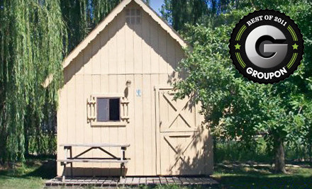 1-Night Stay in Amish-Built Rustic Cabin for Up to 4 People Plus Pancake Breakfasts for 2 ($3.95 ea; up to $57.19 total) - Camp Sandusky in Sandusky