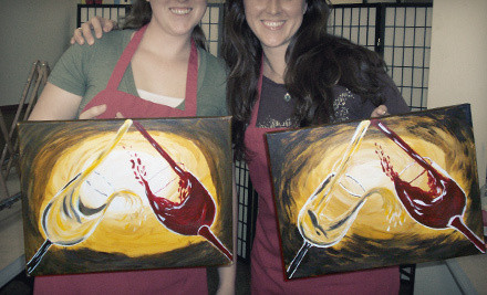 Houston two hour byob painting class for one or two at for Groupon painting class