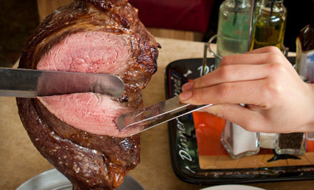 $40 Toward a Steak Rodizio Dinner and An All-You-Can-Eat Salad Buffet for 2 - Oliveiras Steakhouse in Woburn