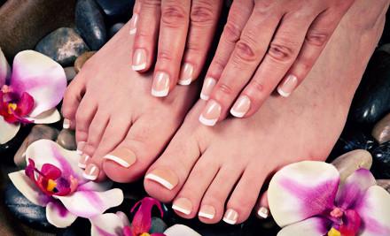 One 75-Minute Manicure and Pedicure (a $50 value) - Sonoma Spa & Salon in Quincy