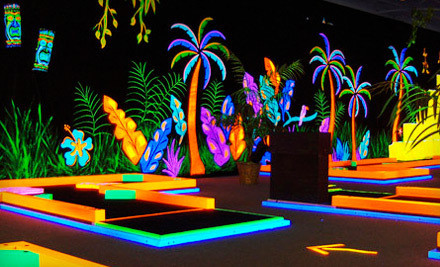 Three Games of Mini Golf for 4 people (a $36 value) - Glowgolf in Leominster
