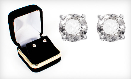 Good for a Pair of Onna Ehrlich Diamond Stud Earrings Set in 14k White Gold ($829 value)  - Diamond Stud Earrings in