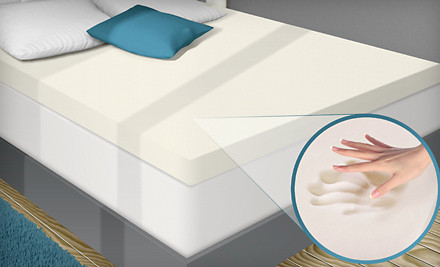 PuraSleep Memory-Foam Mattress Topper: Twin-Size (a $220 value) - Memory-Foam Mattress Topper in