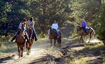 8AM Scenic Morning Trail Ride for 2 Including National Park Entry Passes (a $120 value) - Hi-Country Stables in Estes Park