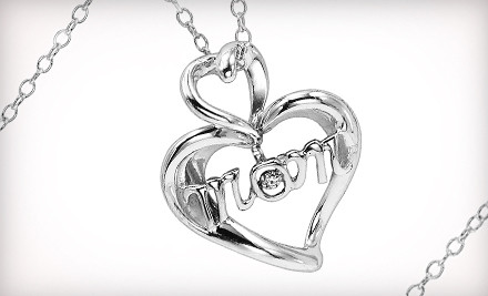 Good for a Mother's Day Diamond Heart Pendant Necklace (a $180 value) - Gemsone in Swansea