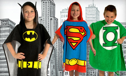 DC Comics Originals Batman Bath Wrap: Toddler Size (2T-3T) (a $40 value) - Superhero Bath Wrap in