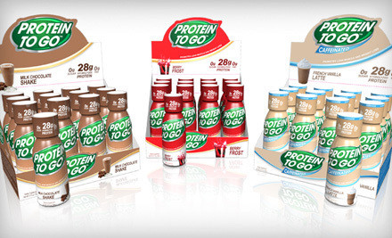 Protein To Go 24-Pack: French-Vanilla Latte (a $72 value) - Two Dozen Protein Shots in