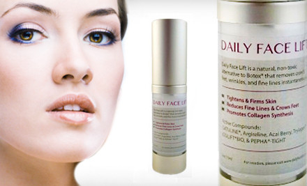 $25 for a 15 mL All-Natural Daily Face-Lift Collagen Serum ($89 Value). Shipping Included.