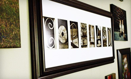 Standard Alphabet Frame (a $135 value) - Frame The Alphabet in