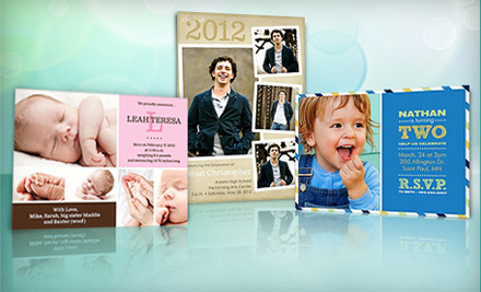 $40 Groupon for Customized Photo Cards, Invitations, and Announcements - PhotoAffections.com in