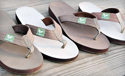 Kinder Soles Flip Flops: Earth Line, Men's Medium (9/10) (a $45 value) - Eco-Friendly Mens or Womens Flip-Flops in