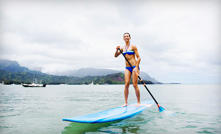 1-Hour Standup Paddleboard Lesson for 1 Person, Plus a T-shirt (a $116 value) - Luminate Surf and Skate in Hull