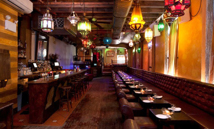 Moroccan Prix Fixe Meal for Two and One Hookah  - Le Souk in New York