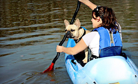 One two-hour recreational kayak ride for one person on the Potomac River - Valley Mill Kayak School in Seneca