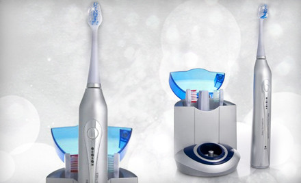 Diamond Elite Ultrasonic Toothbrush, UV Sanitizing Charger Base, 3 Replacement Brush Heads, and Free Shipping  - Diamond Elite Ultrasonic Toothbrush in