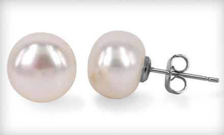 Authentic Pearl Stud Earrings with Complimentary Satin Pouch for Storage from My Pacific Pearls ($175 Value)